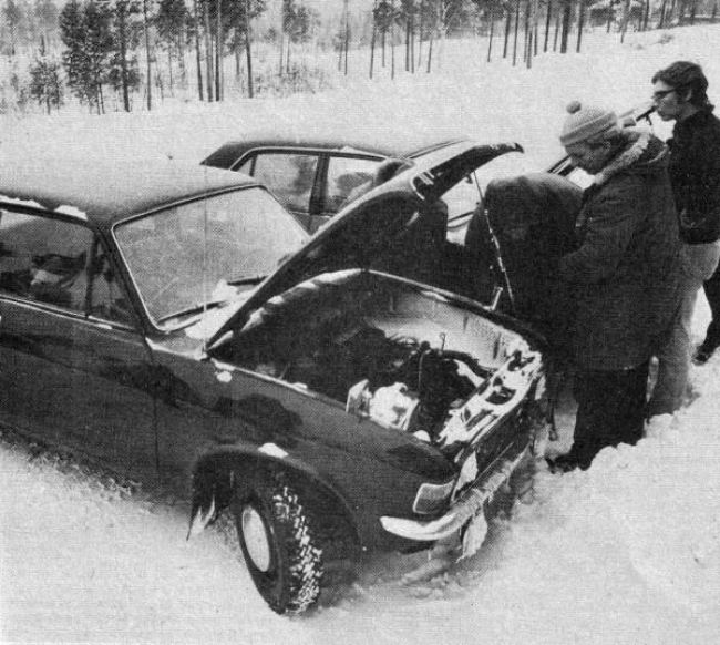 Austin Allegro (ADO67) testing in Finland
