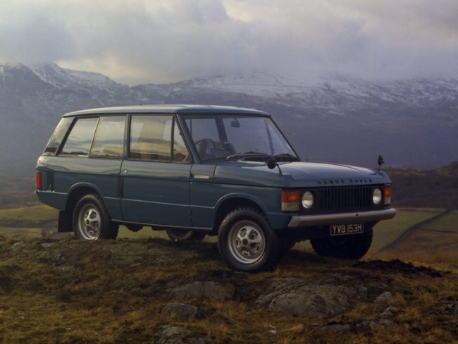 1970 Range Rover launch image