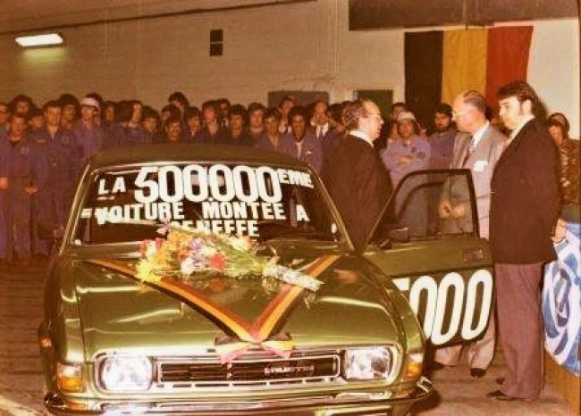 Seneffe assembled its 500,000th car - a green Allegro - in May 1977. Photo: SAICOM