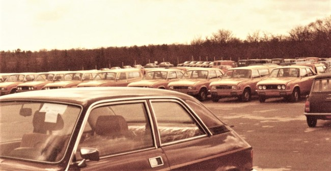 New Allegros in the compound of Danish importer DOMI c. 1978. Photo: Bent Jensen.