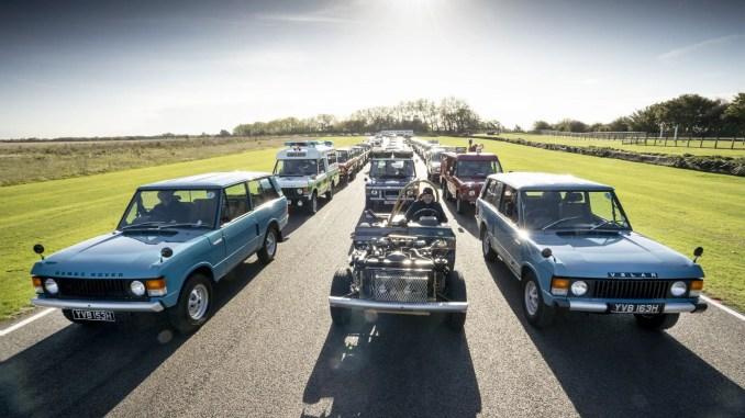 Range Rover 50 parade at Goodwood Speedweek