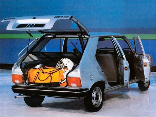 Peugeot 104 received a hatchback in 1976, unlocking its full potential