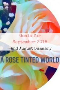 goals for September 2018