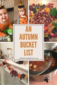 An autumn bucket list