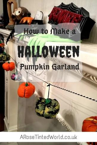 halloween pumpkins garland