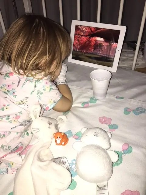 A Child's tonsillectomy iPad