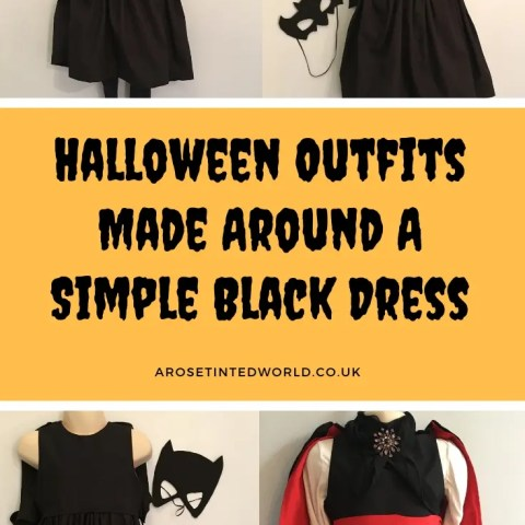 Halloween Outfits Made Around A Simple Black Dress.