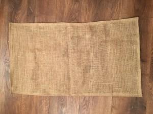 Making a rag rug - hessian backing