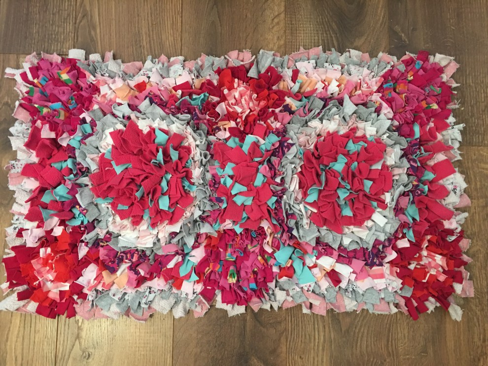 Making a rag rug - finished