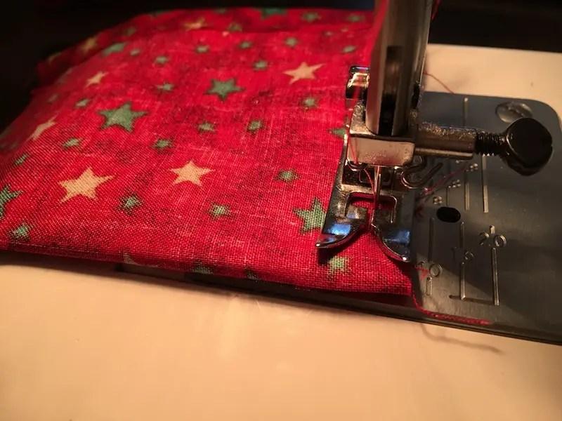 Advent Calendar Treat Bags - side seams