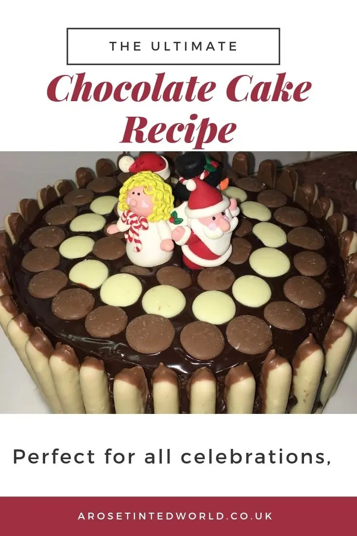 The Ultimate Chocolate Cake - here is the recipe for a rich and indulgent chocolate treat cake perfect for every occasion. Christmas, party, birthday and wedding cake idea. The full recipe here #cakerecipe #cakeideas #cakedecoratingtips #cakedesign #cake #birthdaycake #ultimatecake #recipe #christmascake