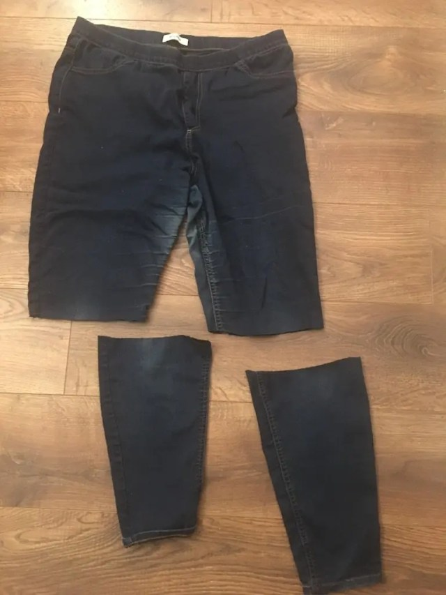 New Clothes From Old -cut legs off