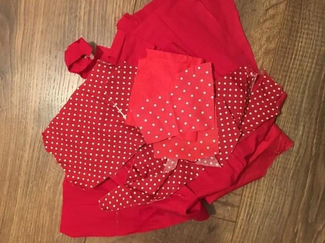 Padded Heart Valentine Garland - scraps