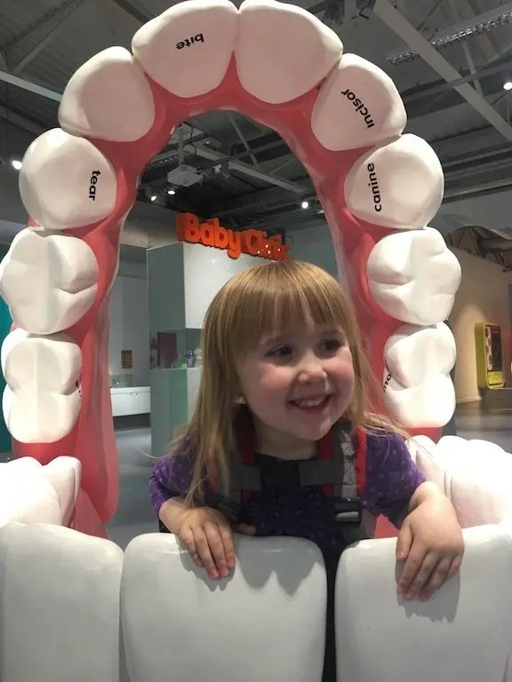 Eureka! Children's Museum - giant teeth exhibit