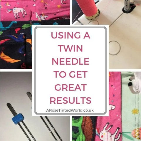 Using A Twin Needle To Get Professional Results On Knit Fabric