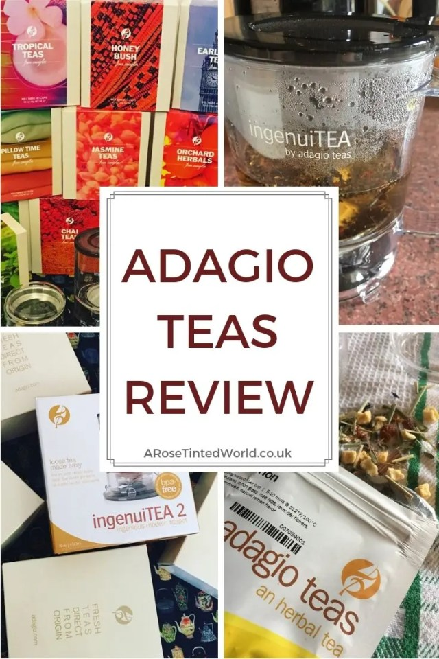 Adagio Teas Review and Giveaway - find out what we thought about the artisan teas available at Adagio Tea UK, and see our review of some of their glassware and tea making accessories. Teapots, IngenuiTEA maker, infuser mug and teapot, sampler sets. Matcha tea, Pu Erh teas and Herbal blends. #ArtisanTea #Tealover #teadrinker #tea #teapot #infuserteapot #ingenuiTEA #puErhtea #matcha #greentea #teabenefits #giveawayuk #looseleaftea #loosetea