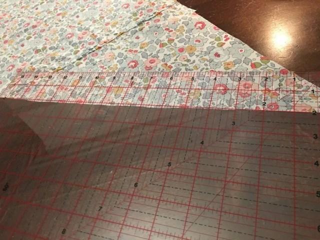 Marking the fabric