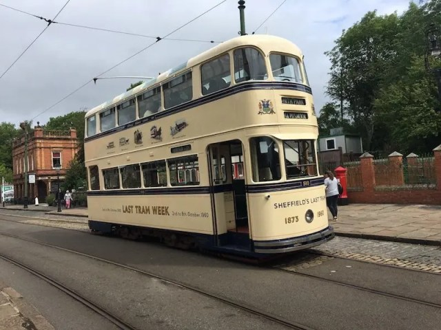 Sheffield Tram at Crich Tramway Village