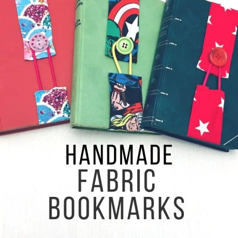 Handmade Fabric Bookmarks