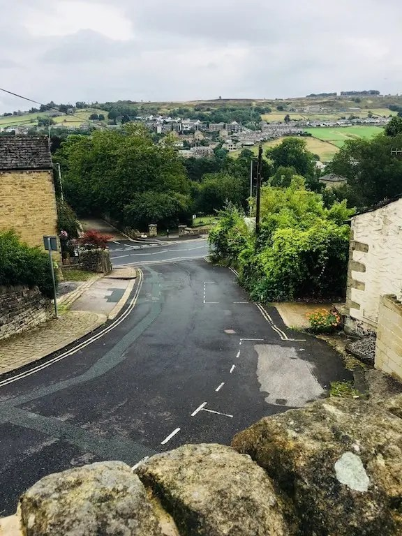 The view from the bottom of Haworth High Street