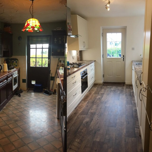 The old kitchen - and how it has been transformed