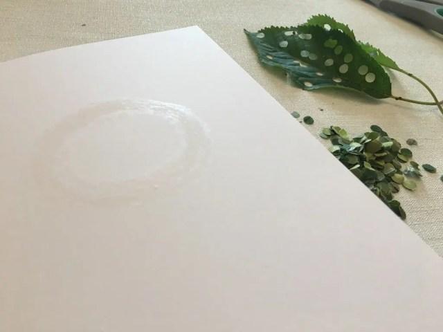 design drawn in glue