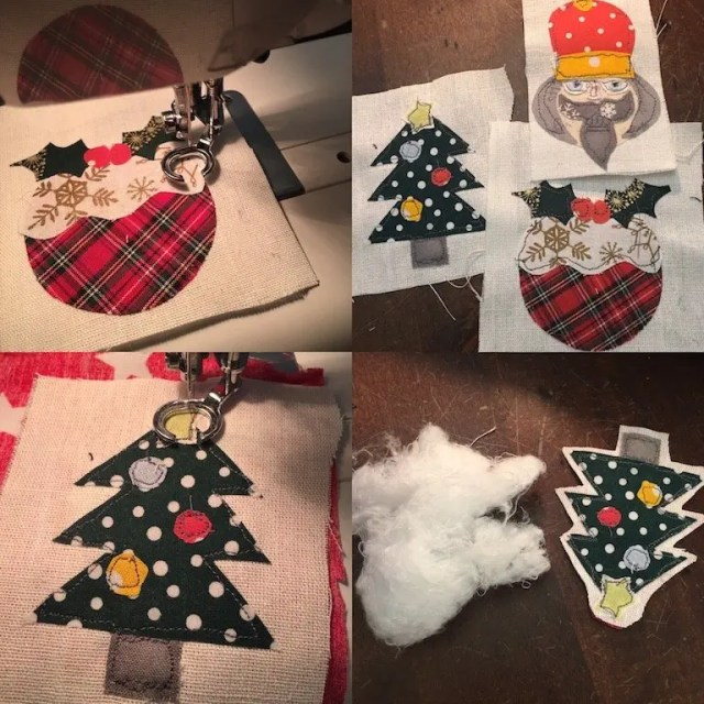 Free motion embroidery - making the decorations