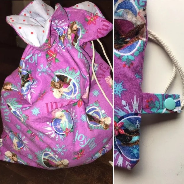 Make a drawstring bag into a pump bag
