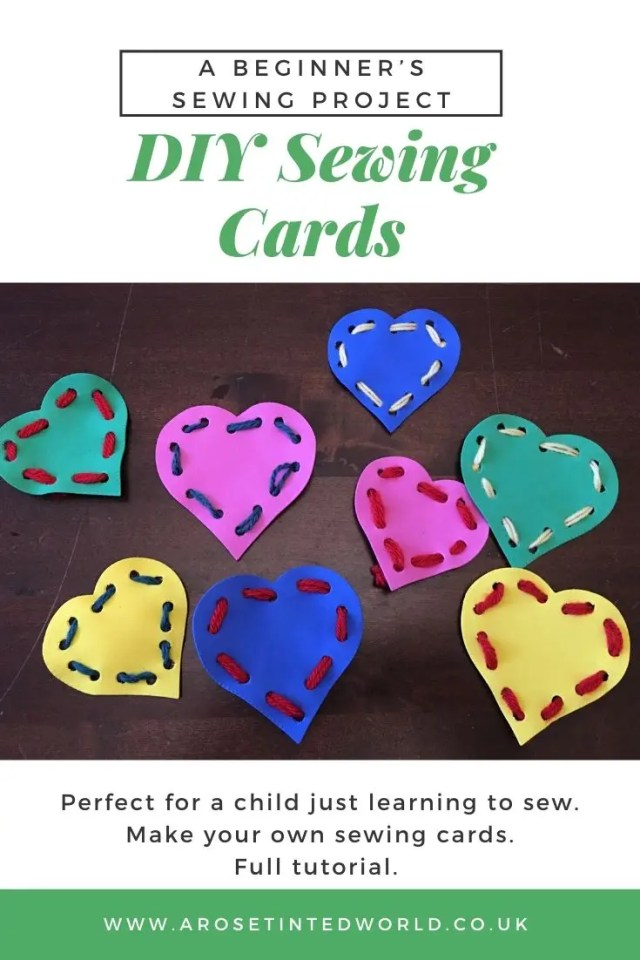 Make Your Own DIY Sewing Cards - this easy project makes some great sewing cards for beginners just learning to sew. Teach your child basic stitches, and help fine motor skills and coordination. #sewing #childrenscrafts #childrenscraft #sewinghobby #sew #childrenshobbies #sewing tutorials #sewingprojects #sewingprojectsforbeginners #sewingforbeginners #craftideas #craftproject