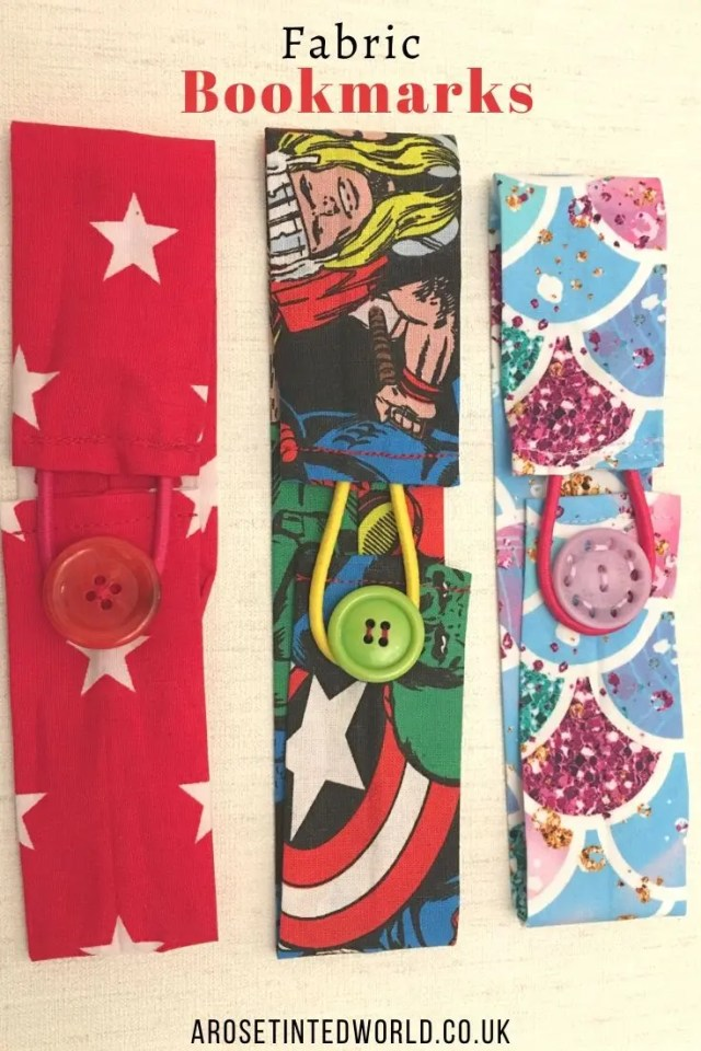 Fabric Bookmarks -Sewing Projects That You Can Sell - make money from what you sew with these ideas for brilliant & sellable DIY items. Links to Full step by step tutorials for each. #sewing #sewingtosell #sewingprojects #sellinghandmade #craftfairs #craftfairideas #sewingcrafts