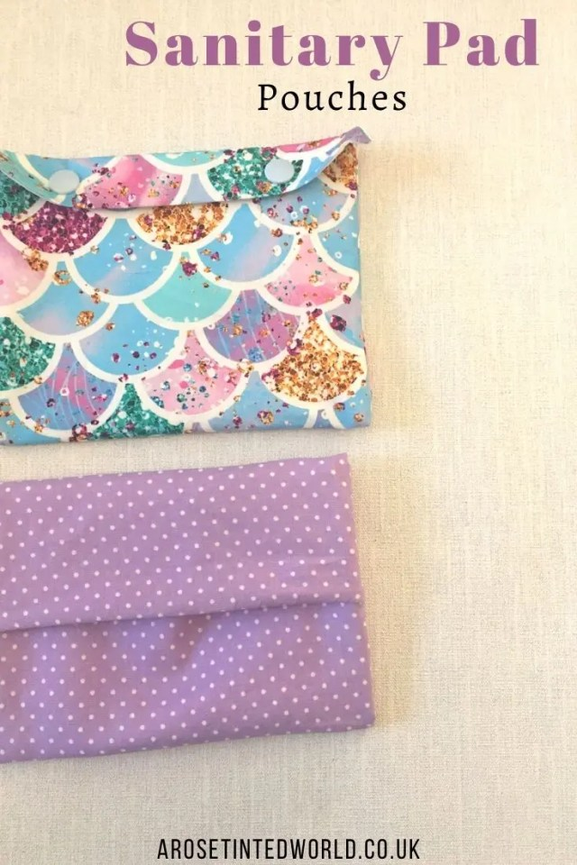 Sanitary Pad Pouches - Sewing Projects That You Can Sell - make money from what you sew with these ideas for brilliant & sellable DIY items. Links to Full step by step tutorials for each. #sewing #sewingtosell #sewingprojects #sellinghandmade #craftfairs #craftfairideas #sewingcrafts
