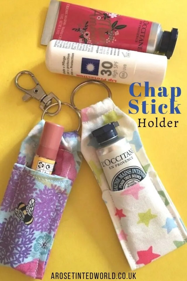 Lip balm / chapstick holder -Sewing Projects That You Can Sell - make money from what you sew with these ideas for brilliant & sellable DIY items. Links to Full step by step tutorials for each. #sewing #sewingtosell #sewingprojects #sellinghandmade #craftfairs #craftfairideas #sewingcrafts