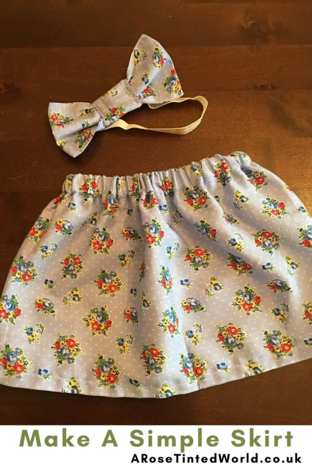 Simple Skirt -Sewing Projects That You Can Sell - make money from what you sew with these ideas for brilliant & sellable DIY items. Links to Full step by step tutorials for each. #sewing #sewingtosell #sewingprojects #sellinghandmade #craftfairs #craftfairideas #sewingcrafts