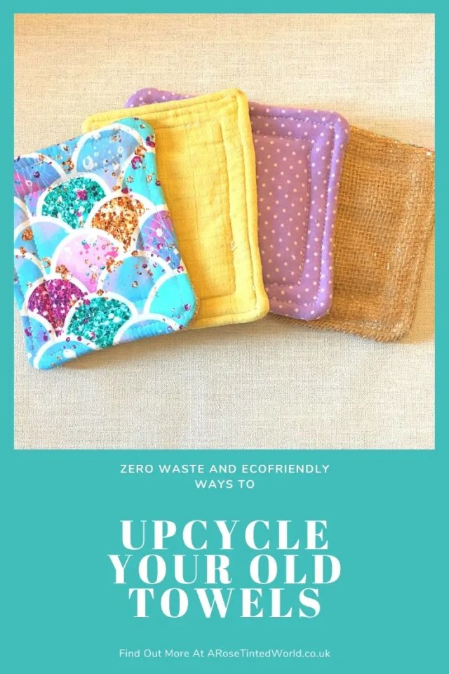 Unsponges - kitchen sponges - Ways To Upcycle Old Towels - looking for zero waste, sustainable ideas of how to reuse your old towel? Find here some great ways of recycling this versatile fabric and making some brilliantly useful items. #sewing #zerowaste #sustainable #upcycle #recycle #zerowasteliving #zerowastesewing #upcycledtowels
