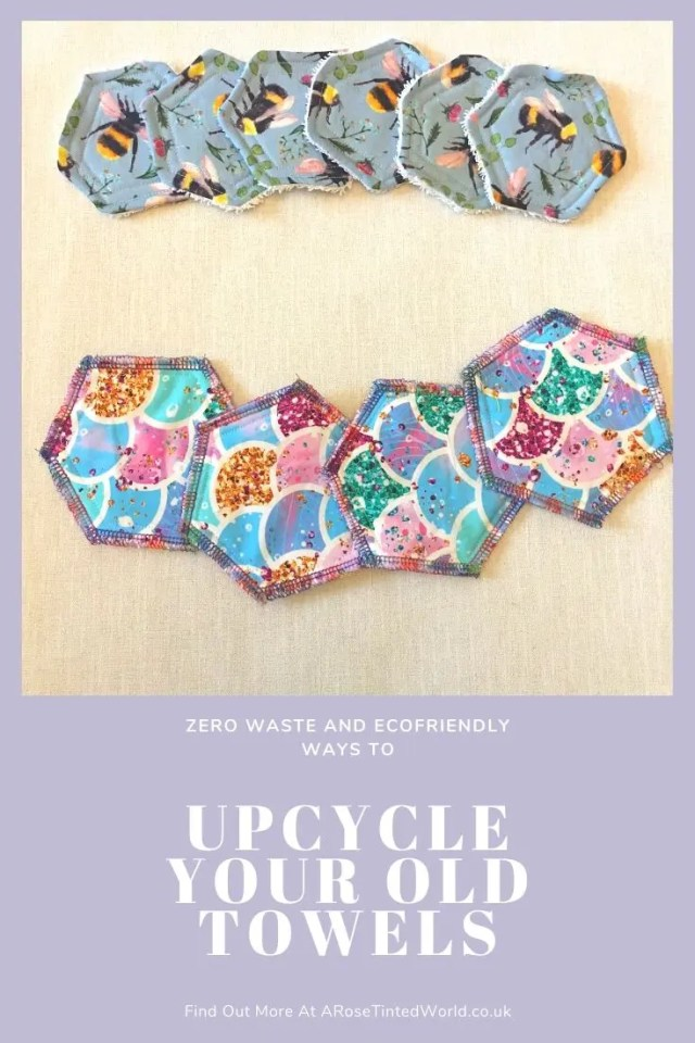 Make Up Remover Pads -Ways To Upcycle Old Towels - looking for zero waste, sustainable ideas of how to reuse your old towel? Find here some great ways of recycling this versatile fabric and making some brilliantly useful items. #sewing #zerowaste #sustainable #upcycle #recycle #zerowasteliving #zerowastesewing #upcycledtowels