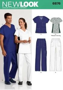 New Look 6876 Scrubs pattern