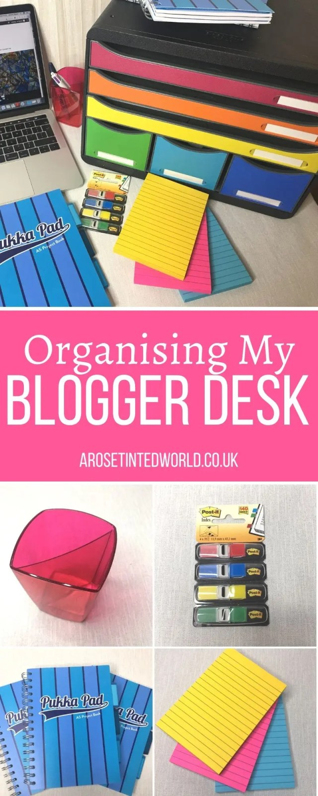 Organising My Blogger Desk - Working from home can be hard. Make it easier with some brilliant new organising desk accessories. I love to have a space for all my blogging essentials. Viking kindly sent me some essentials to review. See what I thought. #bloggerideas #bloggerdesk #deskaccessories #ad