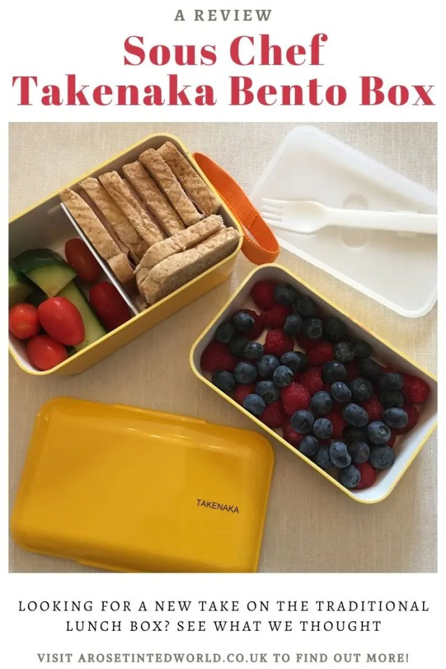 Sous Chef Takenaka Bento Box - looking for a new take on a traditional lunchbox? Why not try a bento box? We were sent this compartmentalised stackable bento box lunch box by Sous Chef, along with some of their Japanese food products. See what we thought. #bentobox #lunchbox #japanesecuisine #bentoboxlunch #bentolunch #japanesefood