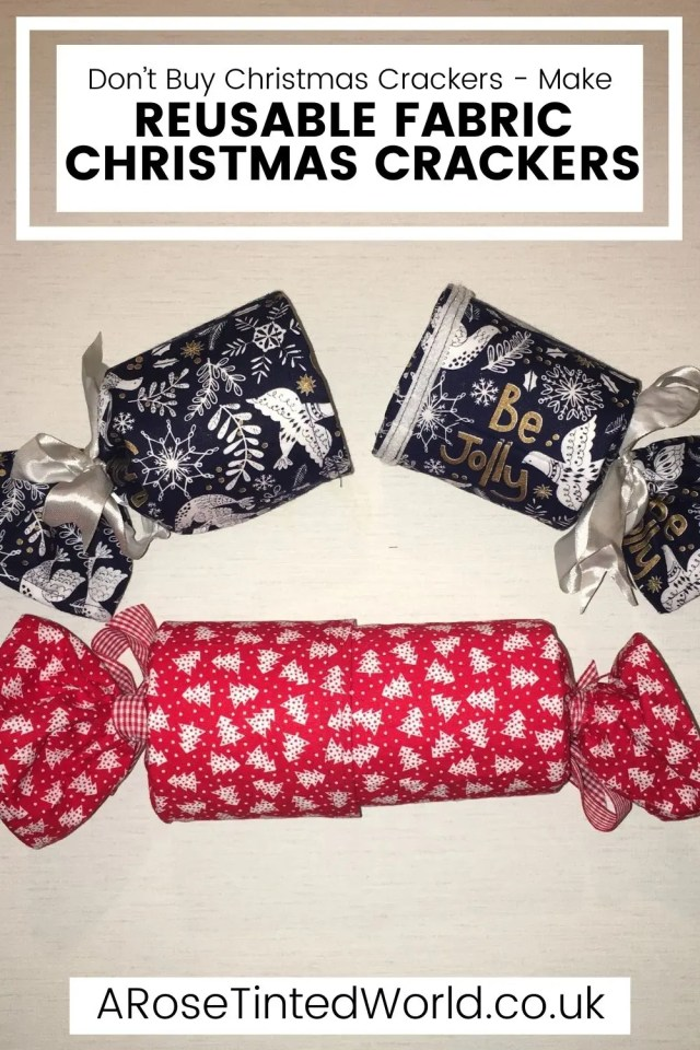 Reusable Christmas Crackers -DIY Projects You Can Make At Home To Save Money - stop buying expensive disposable items and make these reusable ideas instead. Great ideas for items that you can make yourself to use around the home and save cash. Easy making and sewing craft projects for frugal living. Money saving makes for ecofriendly and sustainable living. Upcycling, repurposing and recycling ito create useful items around the home. #diyprojects #moneysavingprojects #sewing #easysewingprojects