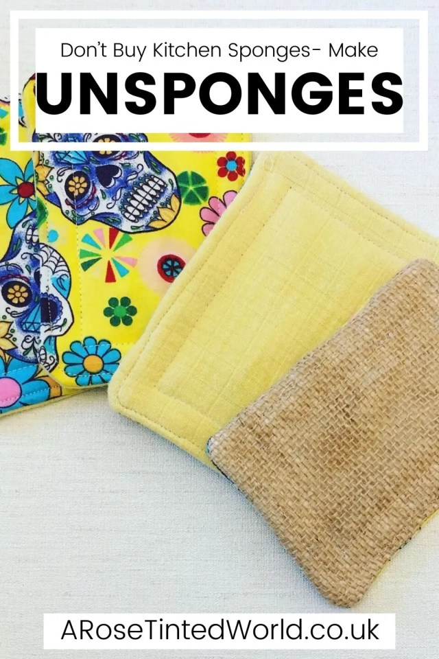 Unsponges - DIY Projects You Can Make At Home To Save Money - stop buying expensive disposable items and make these reusable ideas instead. Great ideas for items that you can make yourself to use around the home and save cash. Easy making and sewing craft projects for frugal living. Money saving makes for ecofriendly and sustainable living. Upcycling, repurposing and recycling ito create useful items around the home. #diyprojects #moneysavingprojects #sewing #easysewingprojects
