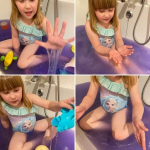 Elizabeth and the Glitter Slime Baff Zimpli