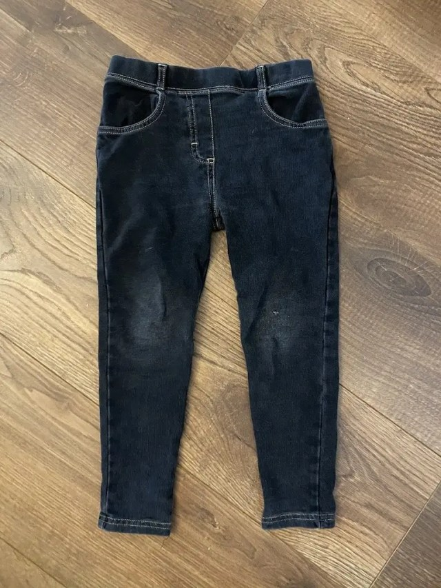 Old Jeans With A Hole In The Knee