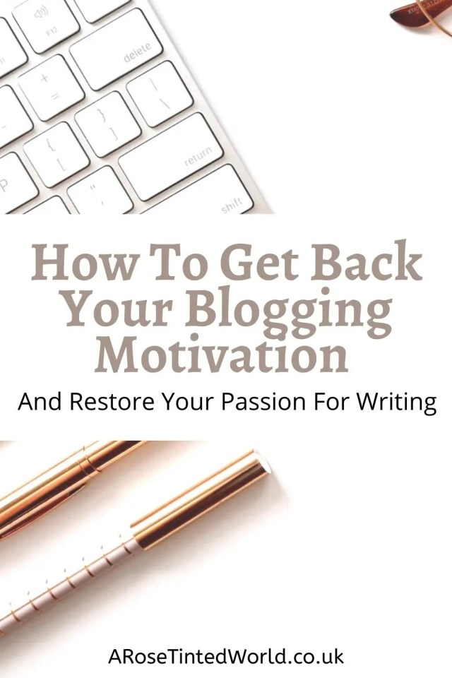 How To Get Back Your Blogging Motivation. Lost your mojo & not motivated to blog? Here are steps to boost, reignite & reclaim your passion! Lost your desire to write for your website? Here are some tips, techniques and tricks to try and help regain your motivation for blogging. Reignite the creative spark. Reclaim your blogging mojo. Boost your blogging motivation and restore the passion for writing. Prompts for writing.