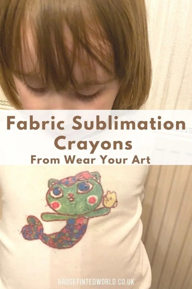 Fabric Sublimation Crayons - a fun way to wear your art. Transfer your drawing to fabric or a t-shirt. See how to use them, & get some ideas.
