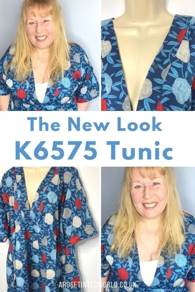 New Look K6575 Sewing Pattern - a dress sewing pattern for a floaty kaftan tunic. What did I think of it & how did the finished project look? A home sew pattern for intermediate sewers. perfect as a beach cover up, beach kaftan or floaty tunic top.