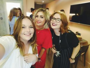 Alice, Rosie and Amy at dine at mine event