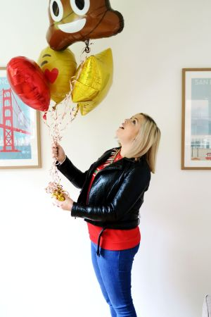 Rosie and balloons