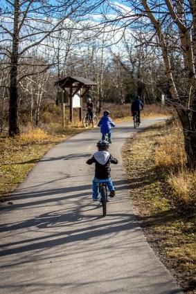 Familien-Fahrradtour an der Isar