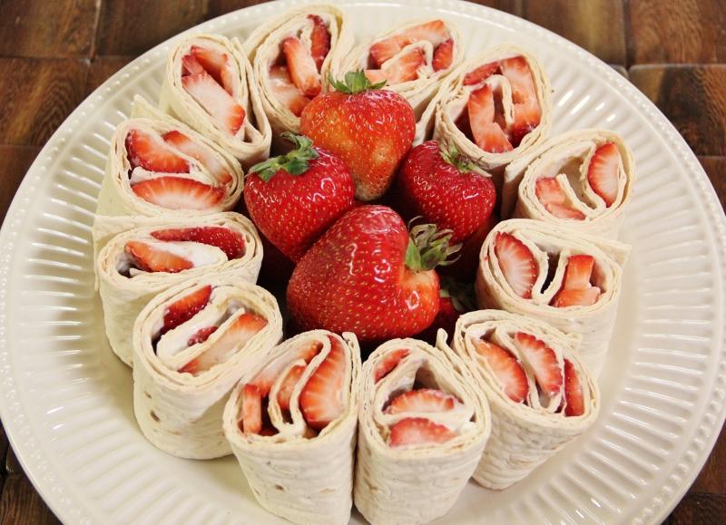 Strawberry Cream Cheese Pinwheels Around My Family Table