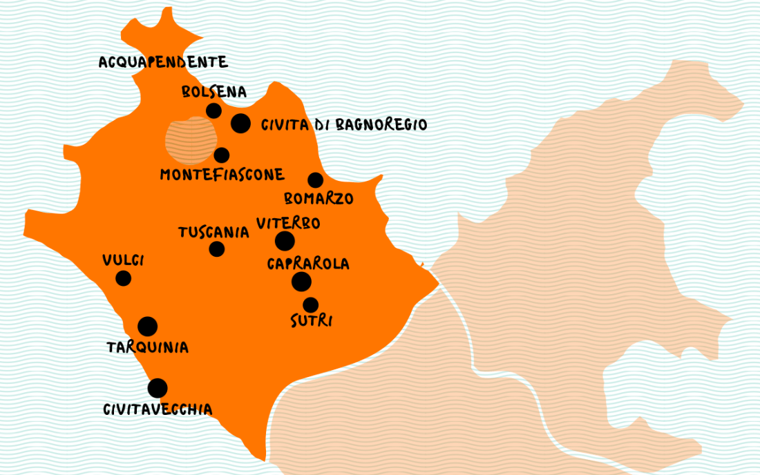 Tuscia and Hot Springs Map